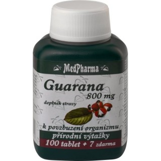 MedPharma GUARANA 800mg 100 tablet + 7 ZDARMA