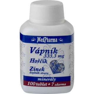 MedPharma Vápník+hořčík+zinek tbl.107