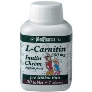 MedPharma L-Carnitin 500mg+Inulin+Chrom tbl.37