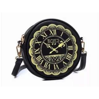 Kabelka hodiny - černá