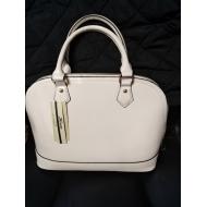 Lakované bílá kabelka